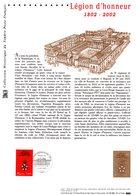 """"""" 200 ANS DE LA LEGION D'HONNEUR """" Sur Document Philatélique Officiel De 2002 (Prix à La Poste = 5.00 €)  N°YT 3490. DPO - Napoleon"""