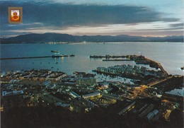 POSTCARD ENGLAND - GIBRALTAR - NIGHT VIEW OF TOWN AND HARBOUR - Gibraltar