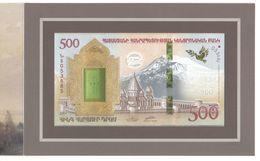 Armenia 2017. 500 Dram Noah's Ark, Collector Banknote UNC. Booklet UNC ( Mountine Ararat, Fauna). - Armenia