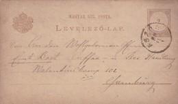 ENTIER ENTERO MAGYAR KIRALYI LEVELEZO LAP CIRCULEE. HONGRIE CIRCA 1888-BLEUP - Postal Stationery