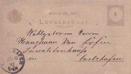 ENTIER ENTERO MAGYAR KIRALYI LEVELEZO LAP CIRCULEE. HONGRIE CIRCA 1892-BLEUP - Postal Stationery