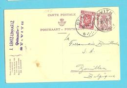 Drietalige Entier Met Stempel ST-VITH (Oostkantons) - Stamped Stationery
