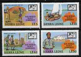 17217 Sierra Leone 1987 World Scouts Jamboree Set (bridges Maps Opera Sailing) U/m Set Of 4 SG 1091-94* - Sierra Leone (1961-...)