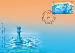 Kyrgyzstan.2018.43rd Chess Olympiad.FDC . - Kyrgyzstan