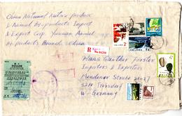 Lettre Recommandée Sur Tissu_ On Fabric_from Kunming, China  (1985) To Troisdorf, West Germany_douane - 1949 - ... People's Republic