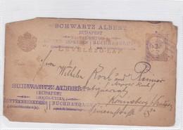 ENTIER ENTERO MAGYAR KIR CIRCULEE. HONGRIE CIRCA 1887-BLEUP - Postal Stationery