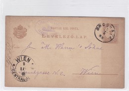 ENTIER ENTERO MAGYAR KIR CIRCULEE TO WIEN. HONGRIE CIRCA 1888-BLEUP - Postal Stationery