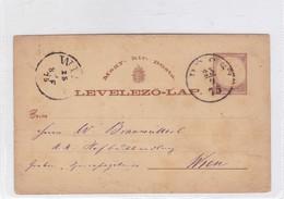 ENTIER ENTERO MAGYAR KIR CIRCULEE TO WIEN. HONGRIE CIRCA 1875-BLEUP - Postal Stationery