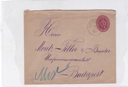 ENTIER ENTERO MAGYAR KIR CIRCULEE TO BUDAPEST. HONGRIE CIRCA 1887-BLEUP - Postal Stationery
