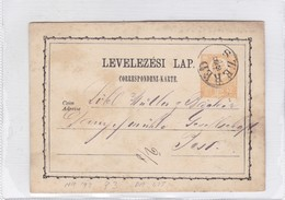 ENTIER ENTERO MAGYAR KIR CIRCULEE. HONGRIE CIRCA 1873-BLEUP - Postal Stationery