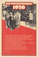 DO YOU REMEBER 1926.  MODERN - Postcards