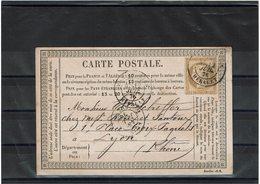 LAC6-  CARTE PRECURSEUR MOD. JANVIER 1876 - Entiers Postaux