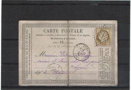 LAC6-  CARTE PRECURSEUR OBL CREST OCTOBRE 1874 PLI - Entiers Postaux
