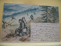 L10 9663 CPA 1903 - MILITARIAT - A LA FRONTIERE. EN PATROUILLE - ANIMATION - Manoeuvres