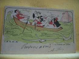 L10 9701 CPA 1903 - ILLUSTRATEURS - 5. LA PARTIE DE CANOT PAR ALBERTILUS. - Illustrateurs & Photographes