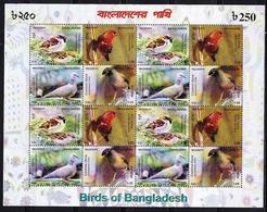 RT)BANGLADESH 2010 BIRDS M/S , MNH.- - Bangladesh