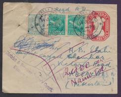 INDIA Postal History, TWO ANNAS Stationery Registered Used 1955 From TALLI TAL - Covers