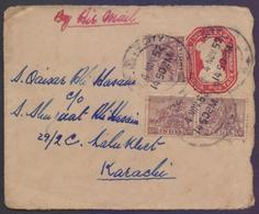 INDIA Postal History, TWO ANNAS Stationery Used 1952 - Covers