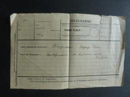 ASIE PHILIPPINES  BANGABON TELEGRAMME  VOIE T.S.F.   (28. Nov. 1938) .   Clas 3. - Philippines
