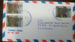 O) 1985 GUATEMALA, AMERICA UPAEP - TEMPLE OF THE GRAN JAGUAR OF TIKAL NATIONAL PARK -SCT C835-AP177 TO FINLANDIA. XF - Guatemala