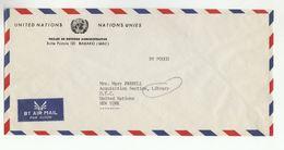 UN In MALI Via DIPLOMATIC BAG 'Pouch' MAMAKO Adminstrative Reform Project To UN NY USA United Nations Cover - UNO