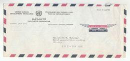 UN In MADAGASCAR Via DIPLOMATIC BAG 'Pouch' TANANARIVE UNDP To UN NY USA United Nations Cover - Madagascar (1960-...)