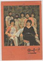 8435 Hungary Rock Band Treff Postcard With Original Autographs Size: 101x144 Mm - Hungary