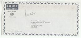 UN In AUSTRALIA  Via DIPLOMATIC BAG 'Pouch' SYDNEY  To UN NY USA United Nations Cover - 1966-79 Elizabeth II