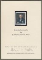 "Berlin: Sonderkarte, Ankündigungskarte LPD Berlin, Mi-Nr. 377: "" Leopold Von Ranke - Muster - Specimen "" RR !    X - Covers & Documents"
