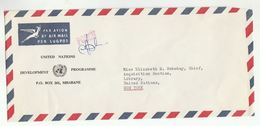 UN In SWAZILAND Via DIPLOMATIC BAG 'Pouch' MBABANE UNDP  To UN NY USA United Nations Cover - Swaziland (1968-...)