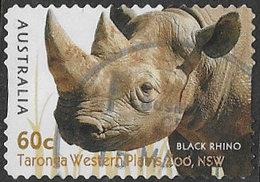 Australia 2012 Zoos 60c Rhino Self Adhesive Good/fine Used [38/31218/ND] - 2010-... Elizabeth II