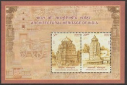 INDIA-2013 ARCHITECTURAL HERITAGE OF INDIA MINIATURE SHEET  /TEMPLES. - Unused Stamps