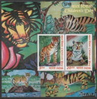 INDIA-2011   CHILDREN'S DAY MINIATURE SHEET /WINNERS OF THE CHILDREN'S DESIGN  / SAVE TIGER,SAVE NATURE - Unused Stamps