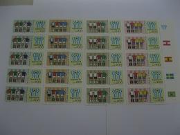 Argentina  1978 World Cup Football MICHEL No.1340-1343 Sheet Of 20 Stamps (5 Set) - Coppa Del Mondo