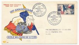 FRANCE - FDC - Enveloppe 15F Ecole De St Cyr - Coetquidan - Premier Jour 1954 - FDC