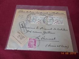 Lettre Chargee De 1954 - Marcophilie (Lettres)