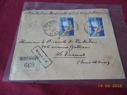 Lettre Chargee De 1955 - Marcophilie (Lettres)