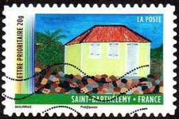 Oblitération Moderne Sur Autoadhésif De France N°  645 - Année Des Outre-mer - Saint Barthélémy - Case Créole - France