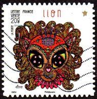 Oblitération Moderne Sur Adhésif De France N°  945, Astrologie - Signe Du Lion - France