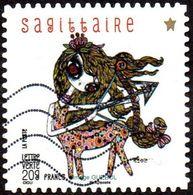 Oblitération Moderne Sur Adhésif De France N°  949 Astrologie - Signe Du Sagittaire - France