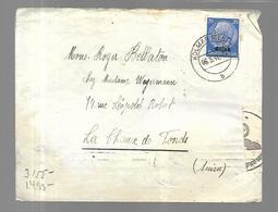 Lettre Alsace Censurée Du  06 03 1941  Colmar Vers La Chaud De Fonds ' ( Suisse ) - Alsace-Lorraine
