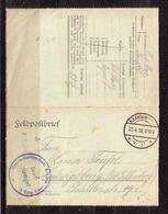 455j * FELDPOSTBRIEF * ETAPPEN-SANITÄTSDEPOT * 8.ARMEE * STAMM ABTEILUNG * 1918 **!! - Guerre 1914-18