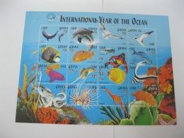 Ghana 1998 International Year Of Ocean ,fishes Sheet  SC#2059 - Ghana (1957-...)