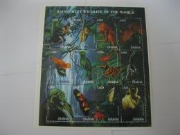 Ghana 1996 Fauna Of Rainforest Sheet 1  SC#1863 - Ghana (1957-...)