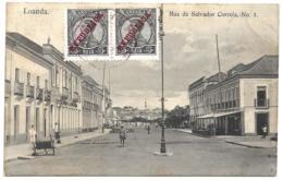 ANGOLA (Portugal) PPC In 1913 - Loanda To Bovigny, Belgium - 5r King Manuel Republica Franking (2) - Angola