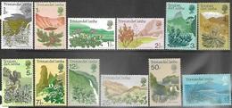 Tristan Da Cunha  1972  Sc#162-73  Flowers Set Of 12  MH*  2016 Scott Value $24.65 - Tristan Da Cunha
