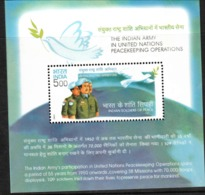 INDIA-2004   MINIATURE SHEET  / THE INDIAN ARMY IN U.N. PEACE KEEPING OPERATION - India