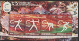 INDIA-2010   MINIATURE SHEET  / THE 19TH COMMONWEALTH GAMES,NEWDELHI(4th Issue) - Unused Stamps