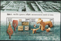INDIA-2011   MINIATURE SHEET  / THE 150TH ARCHAEOLOGICAL SURVEY OF INDIA - Unused Stamps