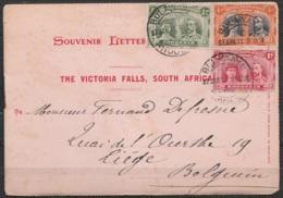 Rhodesia - Souvenir Letter 'The Victoria Falls, South Africa' Affr.5d1/2 Càd BULAWAYO /27.JAN.1911 Pour LIEGE - Carnet C - Nordrhodesien (...-1963)